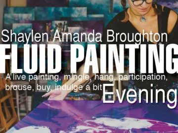 Demo: Fluid Acrylic Paint Pouring by Shaylen Amanda Broughton